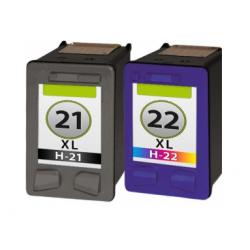 HP 21XL + HP 22XL cartridges set (huismerk)