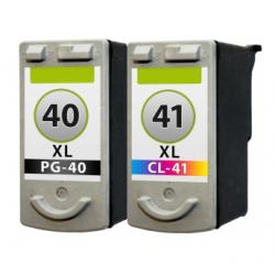Canon 40 + 41 Duo-Pack cartridges (huismerk)