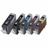 Eetbare inkt Canon PGI-5BK + CLI-8 (Multi-5 Pack) cartridges met chip