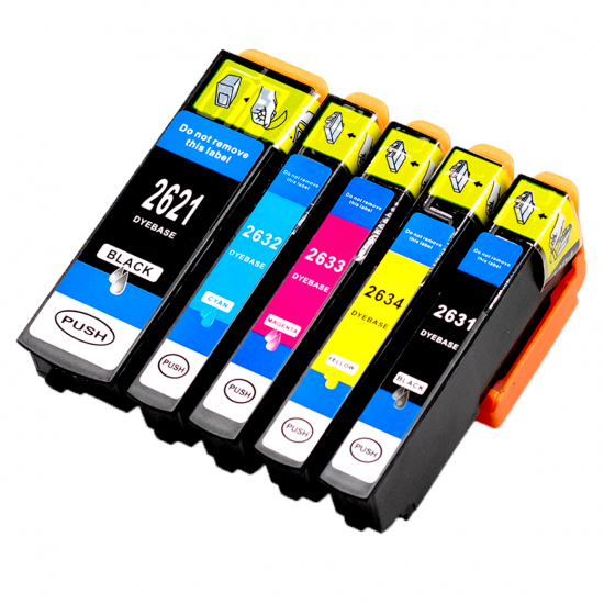 Epson 2636 XL (Multi-5Pack) cartridges (huismerk)