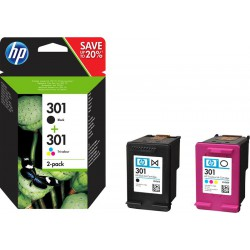 HP 301 DUO-PACK (zwart+kleur) cartridges (origineel)