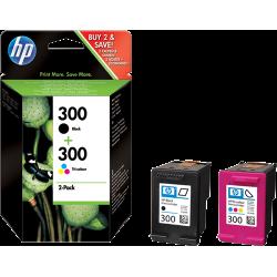 HP 300 XL DUO-PACK (zwart+kleur) cartridges (origineel)